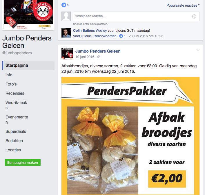 Facebook campagne   Jumbo