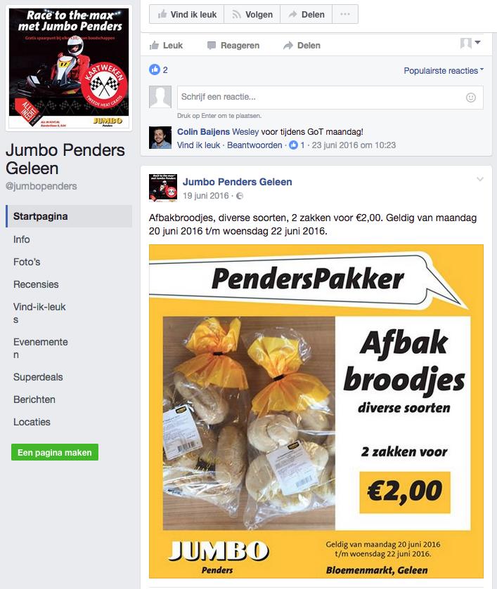 Facebook campagne | Jumbo