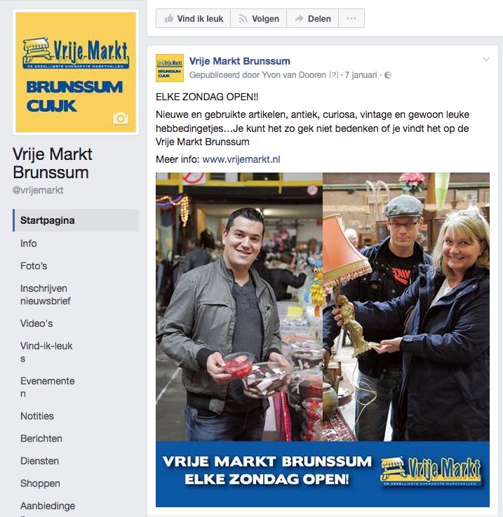Facebook campagne | De Vrije Markt