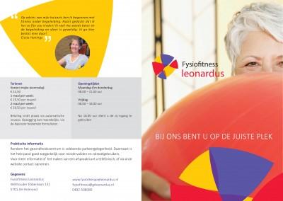 Folder design & druk | Fysiotherapie Leonardus