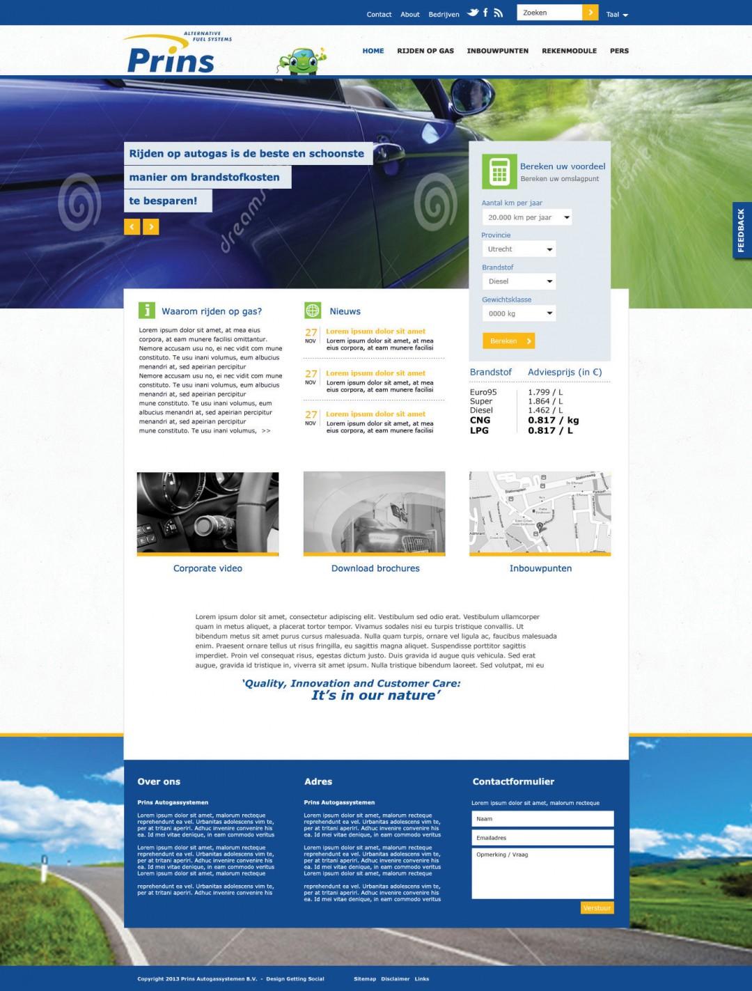 Webdesign | Prins autogas